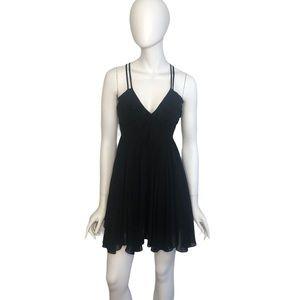 Guess Backless Ruffle Black Dress Size 1